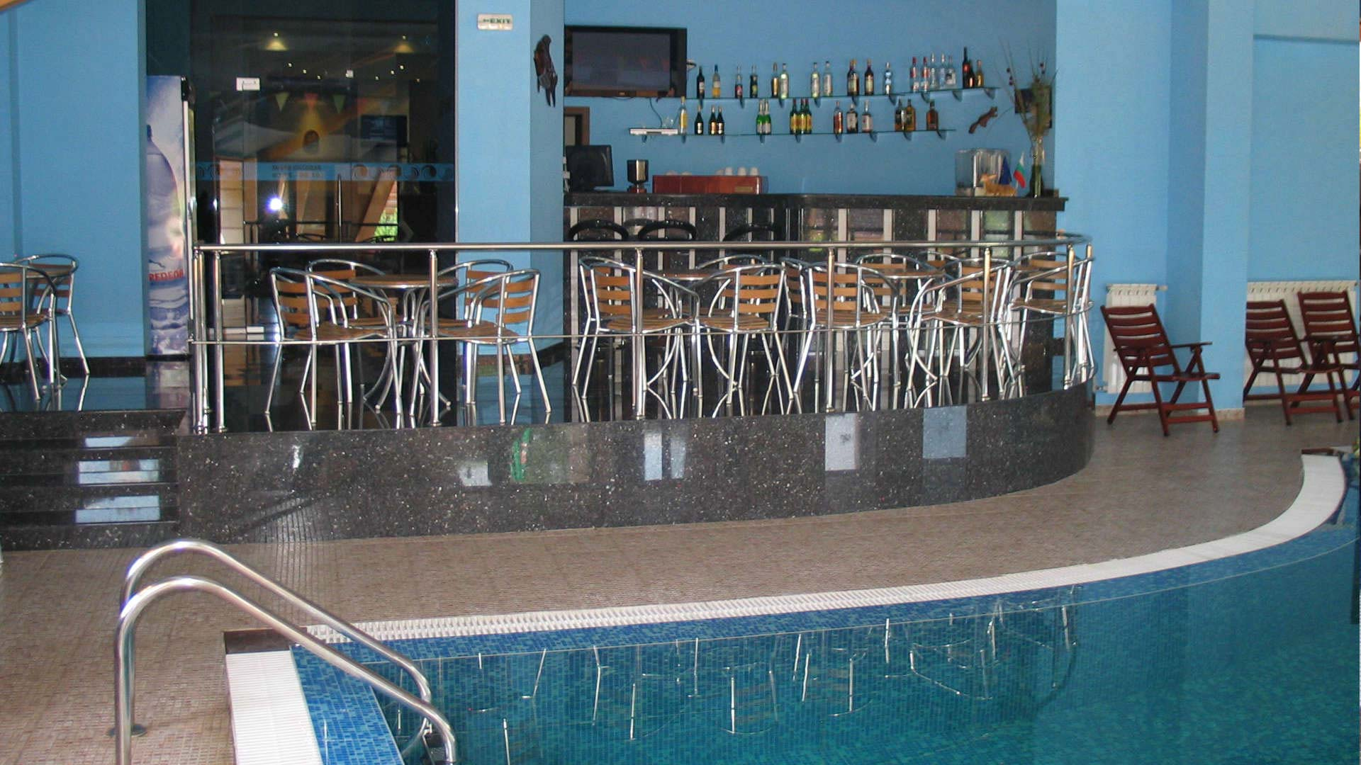 Pool with a bar