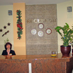 The reception desk in complex Predel