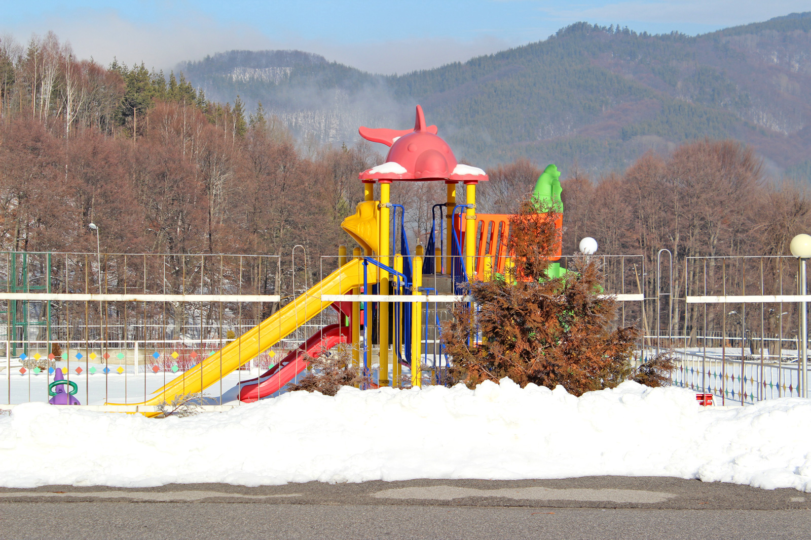 A playground at Hotel complex Predel