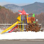 The playground in winter