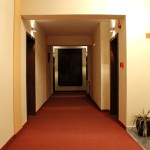 A hallway in the hotel