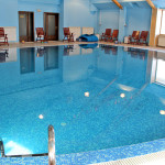 The indoor pool is open year round