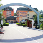 The portal of the hotel complex