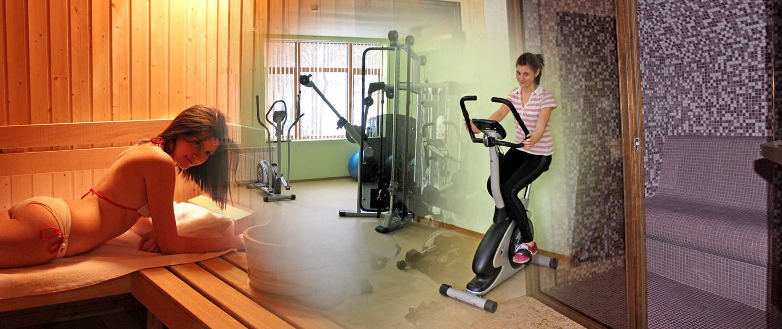 Сауна и фитнес в Хотел Предел