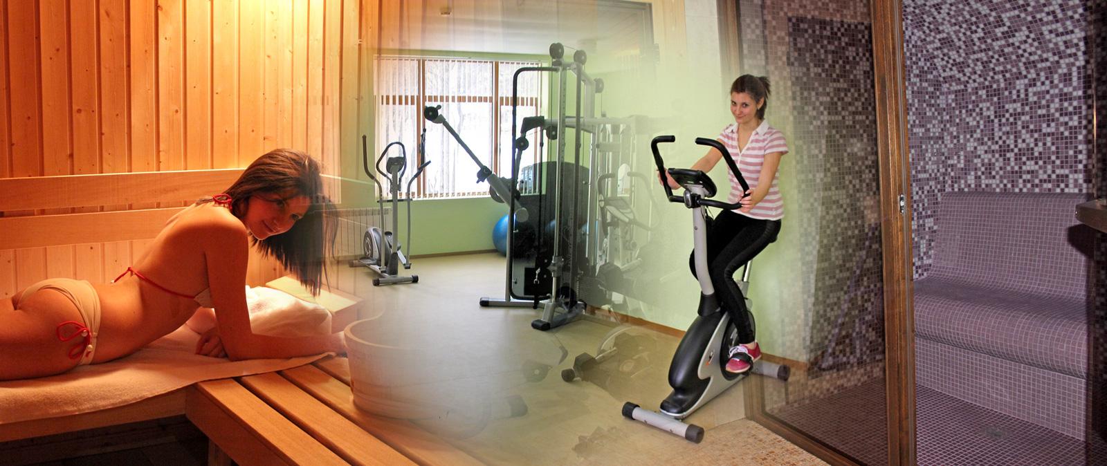 Sauna and fitness in Hotel complex Predel